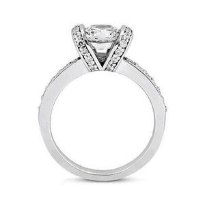 1.76 ct. Bezel setting halo diamonds solitaire rin